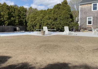 Backyard Regrading, Drainage, Loam and Seed