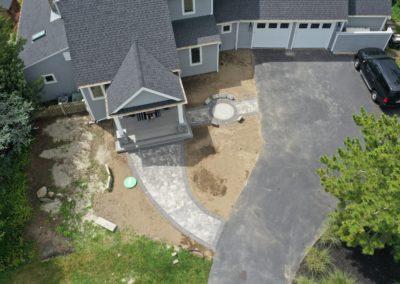 Walkway & Custom Sundial Installation   Dartmouth, MA